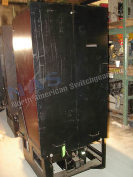 Westinghouse 150DH500A circuit breaker pictured.
