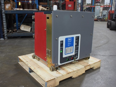 Westinghouse 150VCPW750 circuit breaker pictured.
