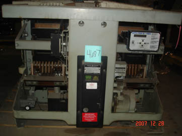 General Electric AK-2-100S circuit breaker pictured.