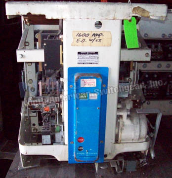 General Electric AK-2-50S circuit breaker pictured.