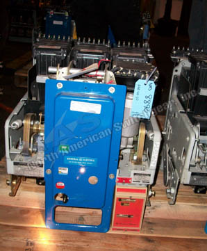 General Electric AKR-4A-30 circuit breaker pictured.