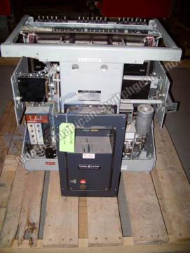 General Electric AKR-10D-100 circuit breaker pictured.