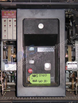 General Electric AKR-10D-30 circuit breaker pictured.