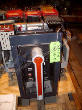 General Electric AKR-9D-50H circuit breaker pictured.
