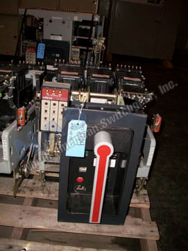 General Electric AKR-9D-50 circuit breaker pictured.
