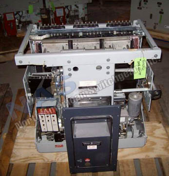 General Electric AKR-10D-75 circuit breaker pictured.