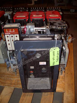 General Electric AKRT-10D-50H circuit breaker pictured.