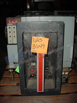 General Electric AKRU-7D-50 circuit breaker pictured.