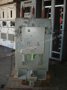 General Electric AM13.8-1000-4H circuit breaker pictured.