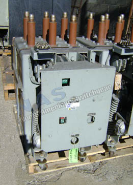 General Electric AM4.16-250-6H Magne Blast circuit breaker pictured.