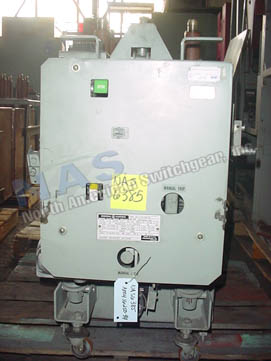 General Electric AM4.16-250-9H Magne Blast circuit breaker pictured.
