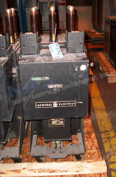 General Electric AM5-50 Magne Blast circuit breaker pictured.
