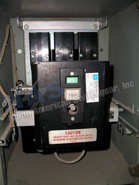 Westinghouse DB-25 circuit breaker pictured.