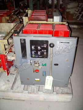 Westinghouse DS-416 circuit breaker pictured.