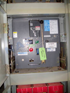 Square D DS-416H circuit breaker pictured.