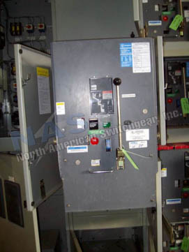 Westinghouse DS-632 circuit breaker pictured.