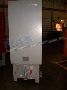 Allis Chalmers FC-500A circuit breaker pictured.  NAS stocks many FC-500A circuit breakers and parts.  All vintages available.
