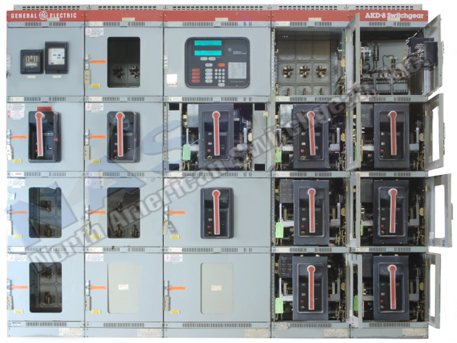 GE AKD-8 switchgear pictured.