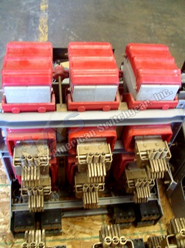 BBC K-1600 circuit breaker pictured.  Available electrically or manually operated; stationary or drawout.