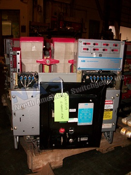 ABB K-1600S circuit breaker pictured.  Available electrically or manually operated; stationary or drawout.