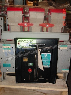 BBC KDON-1600 circuit breaker pictured.  Available electrically or manually operated