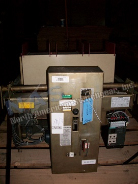 Allis Chalmers LA-3200A circuit breaker pictured.  Manually or electrically operated; as-is or reconditioned; stationary or drawout.