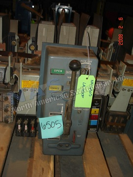 Siemens Allis LA-600F circuit breaker pictured.  Manually or electrically operated; as-is or reconditioned; stationary or drawout.