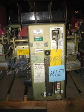 Siemens LA-800A circuit breaker pictured.  Manually or electrically operated; stationary or drawout.