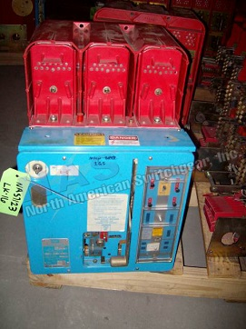 ABB LK-16 circuit breaker pictured.  Available electrically or manually operated; stationary or drawout