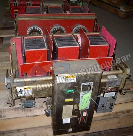 Siemens RL-3200 circuit breaker pictured.  Manually or electrically operated; as-is or reconditioned.
