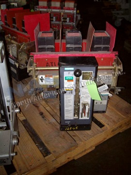 Siemens RLE-800 circuit breaker pictured.  Manually or electrically operated; as-is or reconditioned.
